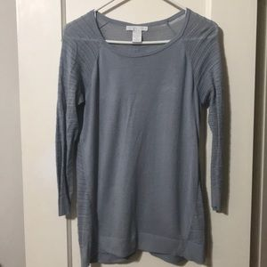 Design History Blue Gray Sweater